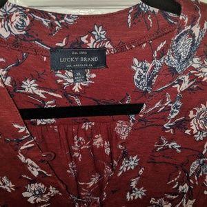 Lucky Brand shirt XL boho sleeveless